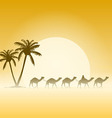 Camels and Palms vector image