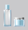 set of light blue glass vector image
