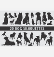20 dogs different set designed in vintage style vector image vector image