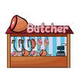A butcher shop vector image vector image
