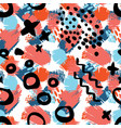 abstract art seamless pattern vector image