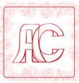 AC monogram vector image vector image