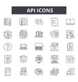 api line icons for web and mobile design editable vector image vector image