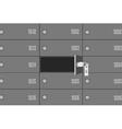 Bank deposit boxes vector image vector image