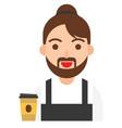 barista icon profession and job vector image vector image