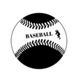 baseball ball black template on white vector image