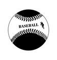 baseball ball black template on white vector image vector image