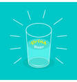 Big shining glass of water Drink water Infographic vector image