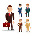 business man set of manager character in various vector image vector image