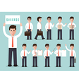 businessman characters set vector image vector image