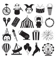 Circus and Amusement Park Icons Set vector image