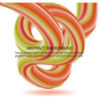 colored stream wavy modern wave with shadow vector image vector image