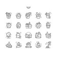 cupcakes well-crafted pixel perfect thin vector image vector image