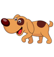 Cute puppy cartoon vector image vector image
