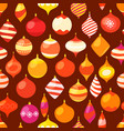different christmas baubles seamless pattern vector image vector image