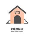 dog house mono color icon vector image