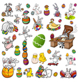 easter characters cartoon set vector image vector image