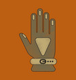flat shading style icon glove vector image vector image
