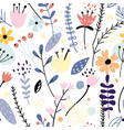 floral seamless pattern with creative flowers vector image vector image