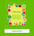 framework from icons of vegetables and fruit vector image