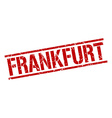 Frankfurt red square stamp vector image vector image