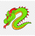 green chinese dragon icon cartoon style vector image