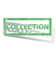 Green outlined COLLECTION stamp vector image vector image