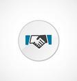 Handshake icon 2 colored vector image vector image