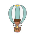 happy little girl cartoon character in hot air vector image