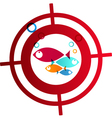 Hunter fish logo Abstract Background vector image vector image