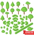Isometric trees hedge and bushes vector image vector image