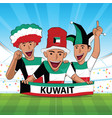 kuwait football support vector image vector image