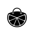 lemon shop logo design template and support icon vector image