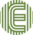 letter line e alphabet design vector image