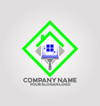 logo house cleaning services 02 vector image vector image