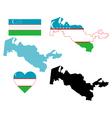 map of Uzbekistan vector image vector image