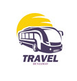 modern bus symbol stylized icon for logo vector image