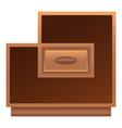 modern nightstand icon cartoon style vector image vector image
