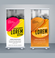 modern standee design in abstract style vector image vector image