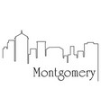 montgomery city one line drawing vector image