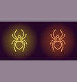 neon icon of yellow and orange spider vector image vector image