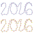 numbers of the coming year from garlands of light vector image vector image
