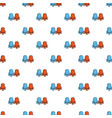 red and blue cinema armchairs pattern vector image vector image