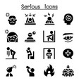 serious icon set vector image vector image