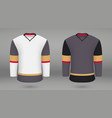 shirt template forice hockey jersey vector image vector image
