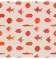 Simple plain style fish seamless pattern vector image vector image