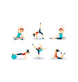 slim young woman doing fitness workout active vector image vector image