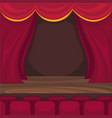 small stage for comic monologues and magician vector image