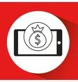 smartphone e-commerce bag money graphic vector image vector image