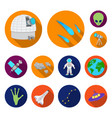 space technology flat icons in set collection for vector image